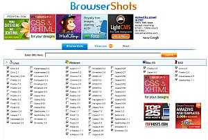 browsershots - вижте уебсайта през ралични браузъри