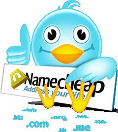 twitter namecheap промоция цена домейни