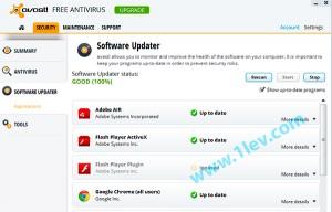 avast8 -  безплатен антивирус - обновяване на програми