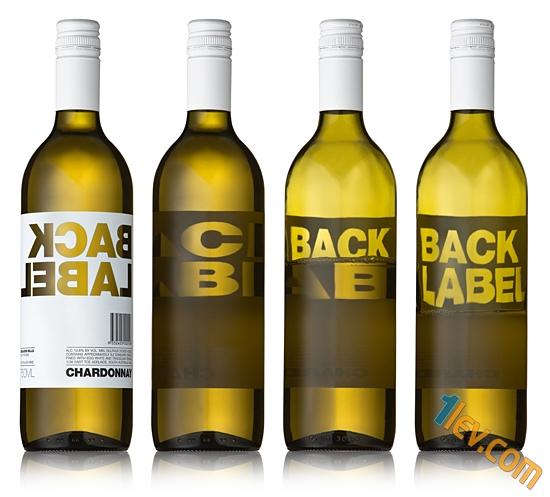 бутилка вино - дизайн етикет