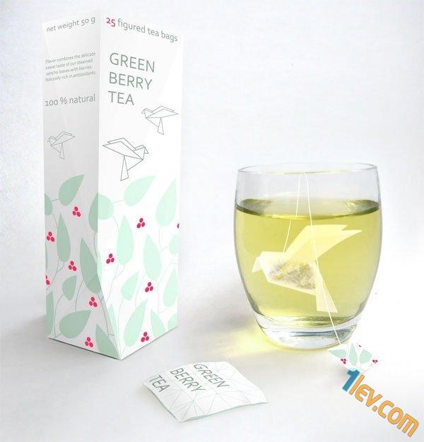 опаковка и дизайн чай на пакети
