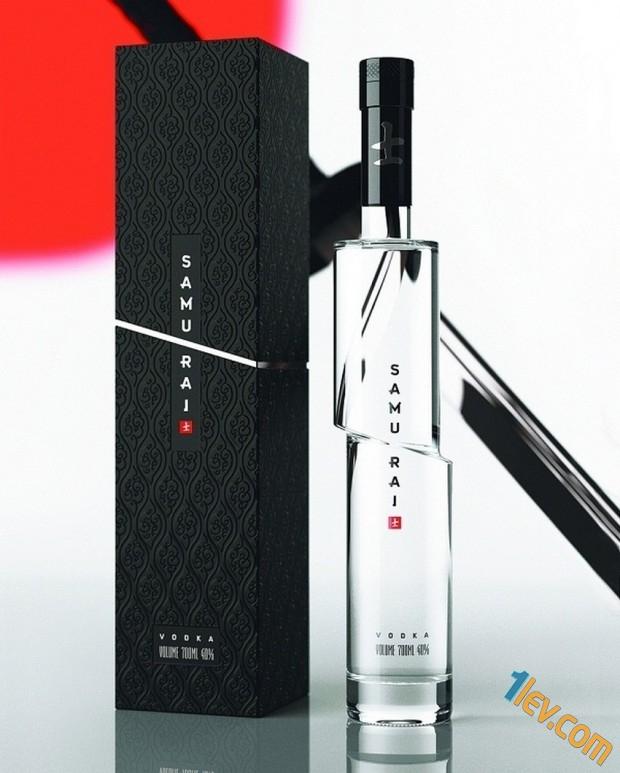 бутилка и опаковка - водка Самурай