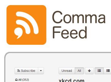 commafeed - алтернатива на Google Reader
