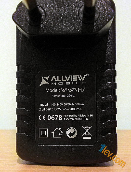 allview viva h7 life - charger