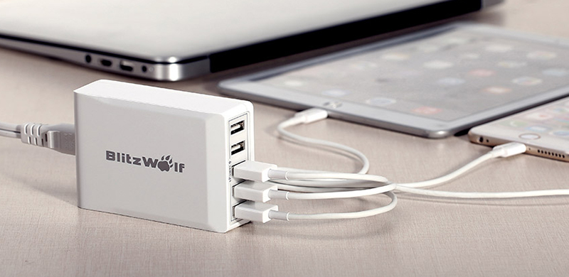 BlitzWolf-40W-Smart-5-Port-High-Speed-USB-Charger