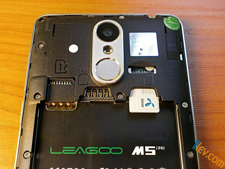 отвътре - вход TF карта, 2 micro SIM карти