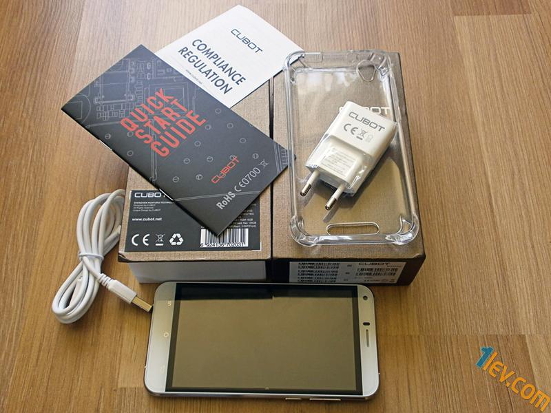 комплект Cubot Manito - usb кабел, упътване, кейс, адаптер, телефон