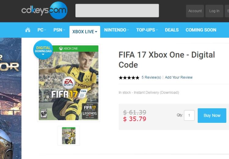 xbox one - Fifa 17 игра на по-ниска цена