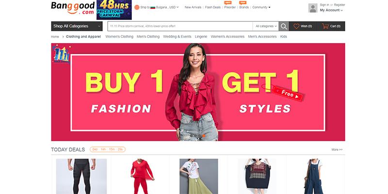 Дрехи и модни аксесоари от Китай в BangGood.com