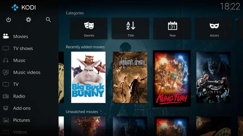 Kodi Медия център за Xbox One