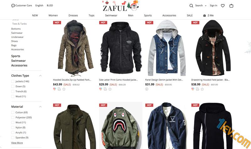 Мъжката секция Zaful не е чак толкова необятна, но все пак има достатъчно богат избор