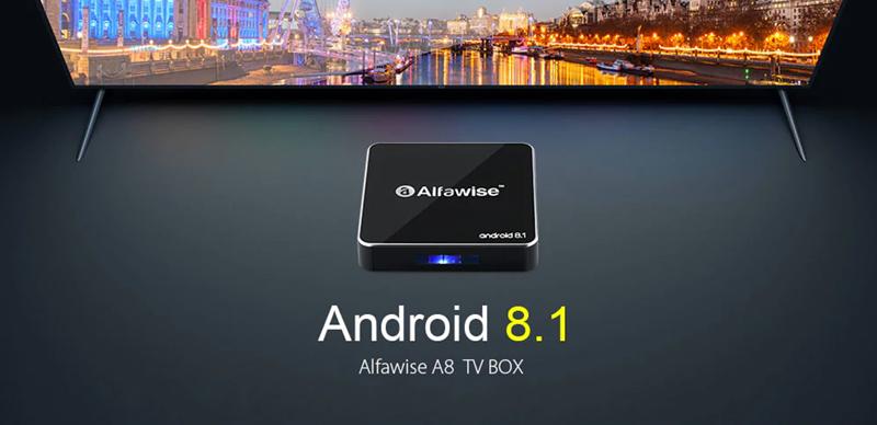 ТВ бокс Alfawise A8 - супер евтин ТВ бокс с Android 8 от GearBest. Ревю, информация, цена